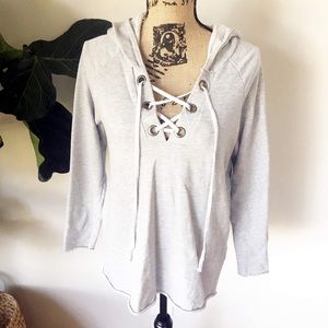 EUC T Party lace up hoodie Size medium
